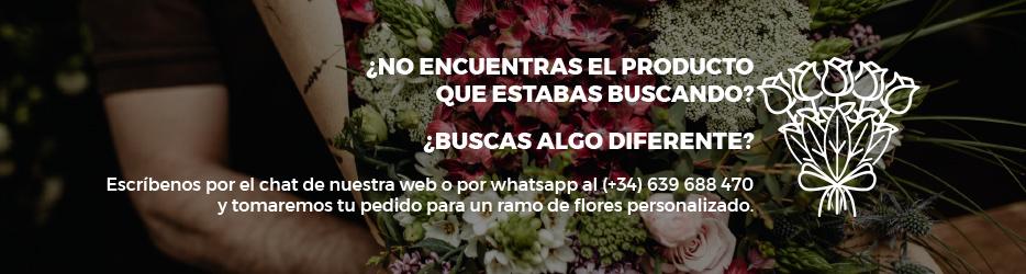 Envío ramo de flores personalizado Madrid